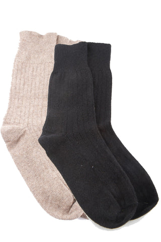 Possum Merino Ribbed Socks
