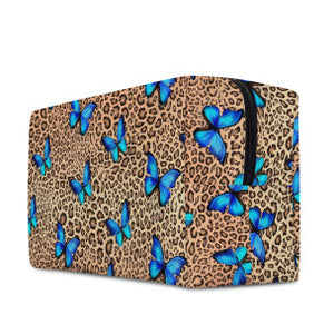 LEOPARD & BUTTERFLY - COSMETIC BAG - Electric Styles