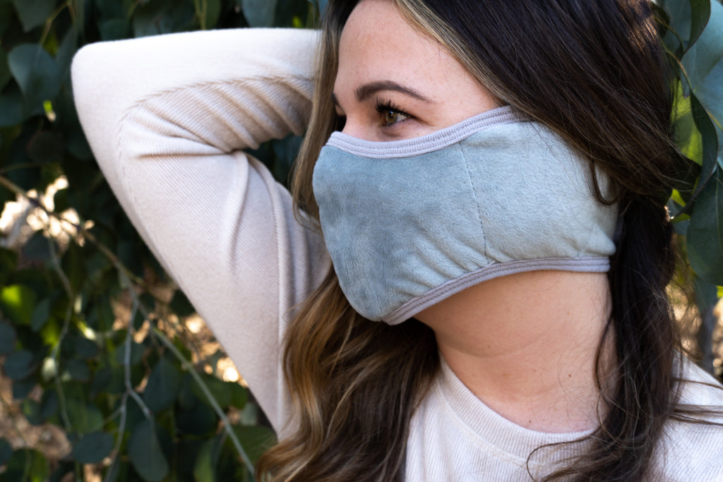 GRAY - ADULT'S EAR COVER FACE MASK - Electric Styles