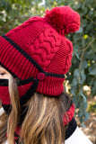 RED & BLACK - ADULT 3-PIECE WINTER MASK SET - Electric Styles