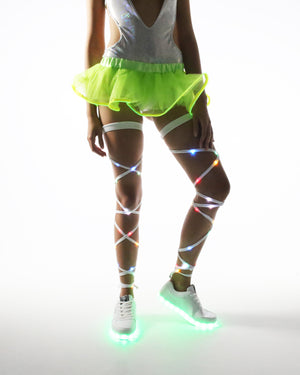 Lime Green Light Up Tutu - Electric Styles