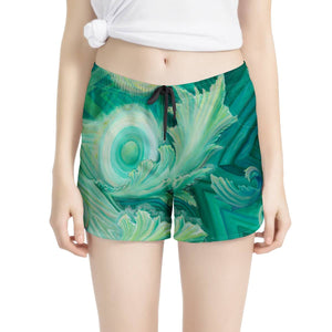 Peace by Joness Jones - Women's All Over Print Casual Shorts - Electric Styles
