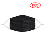 HEATHER BLACK -  KIDS MASK WITH (4) PM 2.5 CARBON FILTERS - Electric Styles