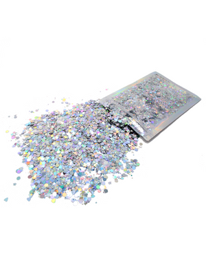 Silver Holographic - Chunky Rave Glitter