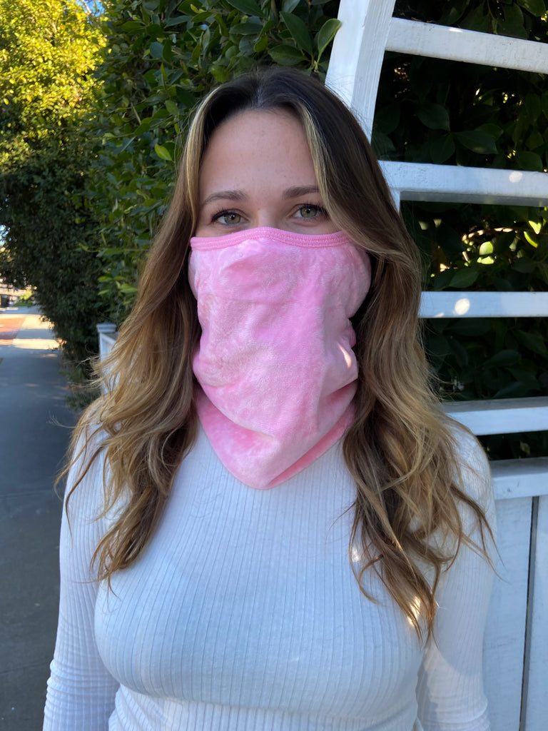 PINK - ADULT WINTER MASK & NECK WARMER - Electric Styles
