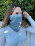 GRAY - ADULT WINTER MASK & NECK WARMER - Electric Styles