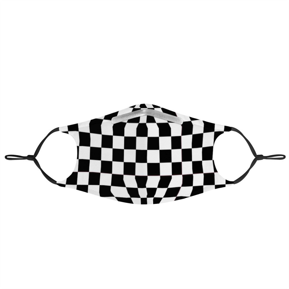 CHECKERED -  MASK WITH (4) PM 2.5 CARBON FILTERS - Electric Styles