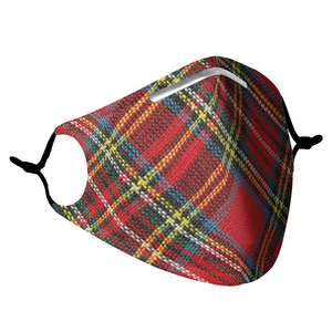PLAID -  MASK WITH (4) PM 2.5 CARBON FILTERS - Electric Styles
