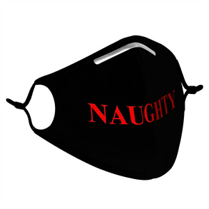 NAUGHTY -  MASK WITH (4) PM 2.5 CARBON FILTERS - Electric Styles