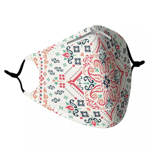 BOHO BANDANA -  MASK WITH (4) PM 2.5 CARBON FILTERS - Electric Styles