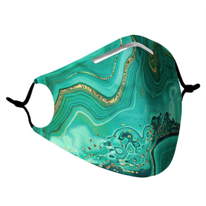 AMAZONITE -  MASK WITH (4) PM 2.5 CARBON FILTERS - Electric Styles