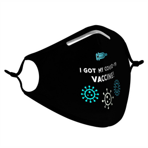 BLACK, BLUE & WHITE VACCINE -  MASK WITH (4) PM 2.5 CARBON FILTERS - Electric Styles