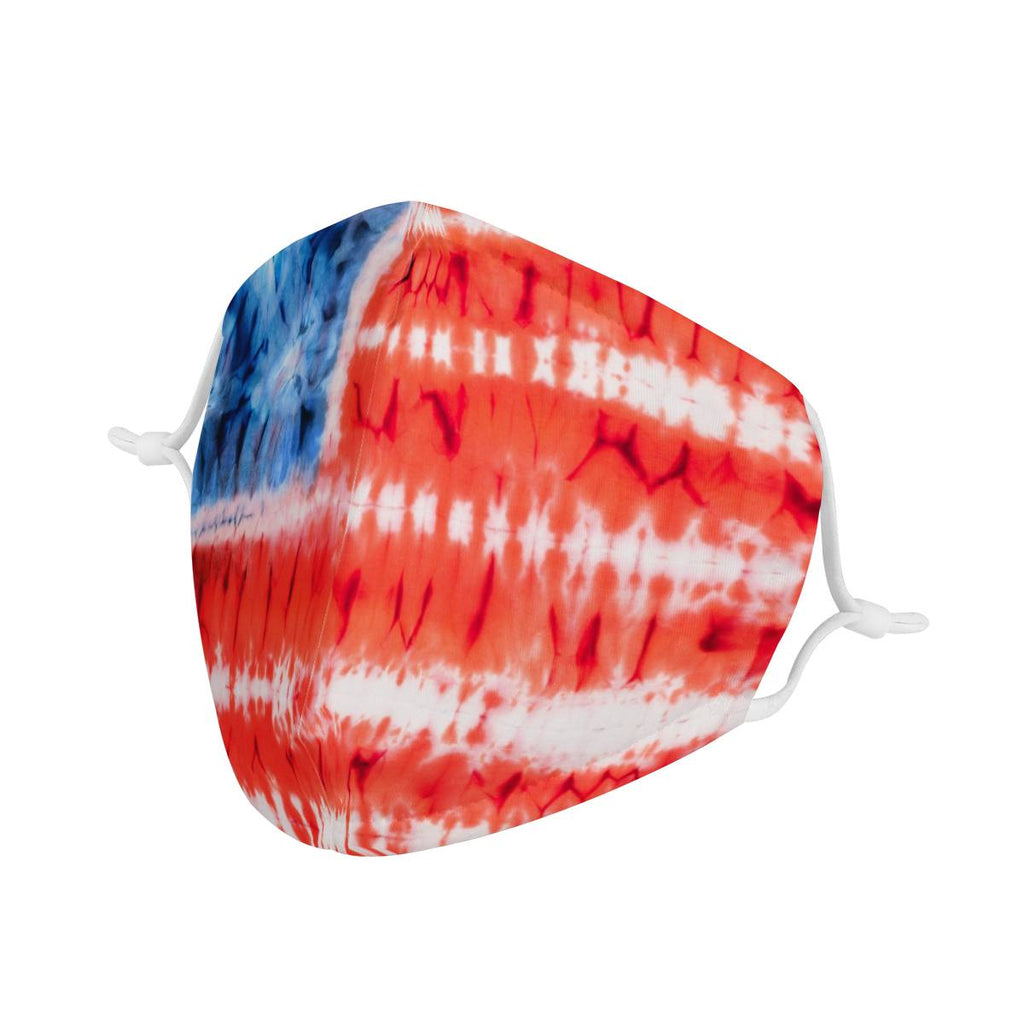 AMERICAN FLAG TYE DYE - KIDS MASK WITH (4) PM 2.5 CARBON FILTERS - Electric Styles