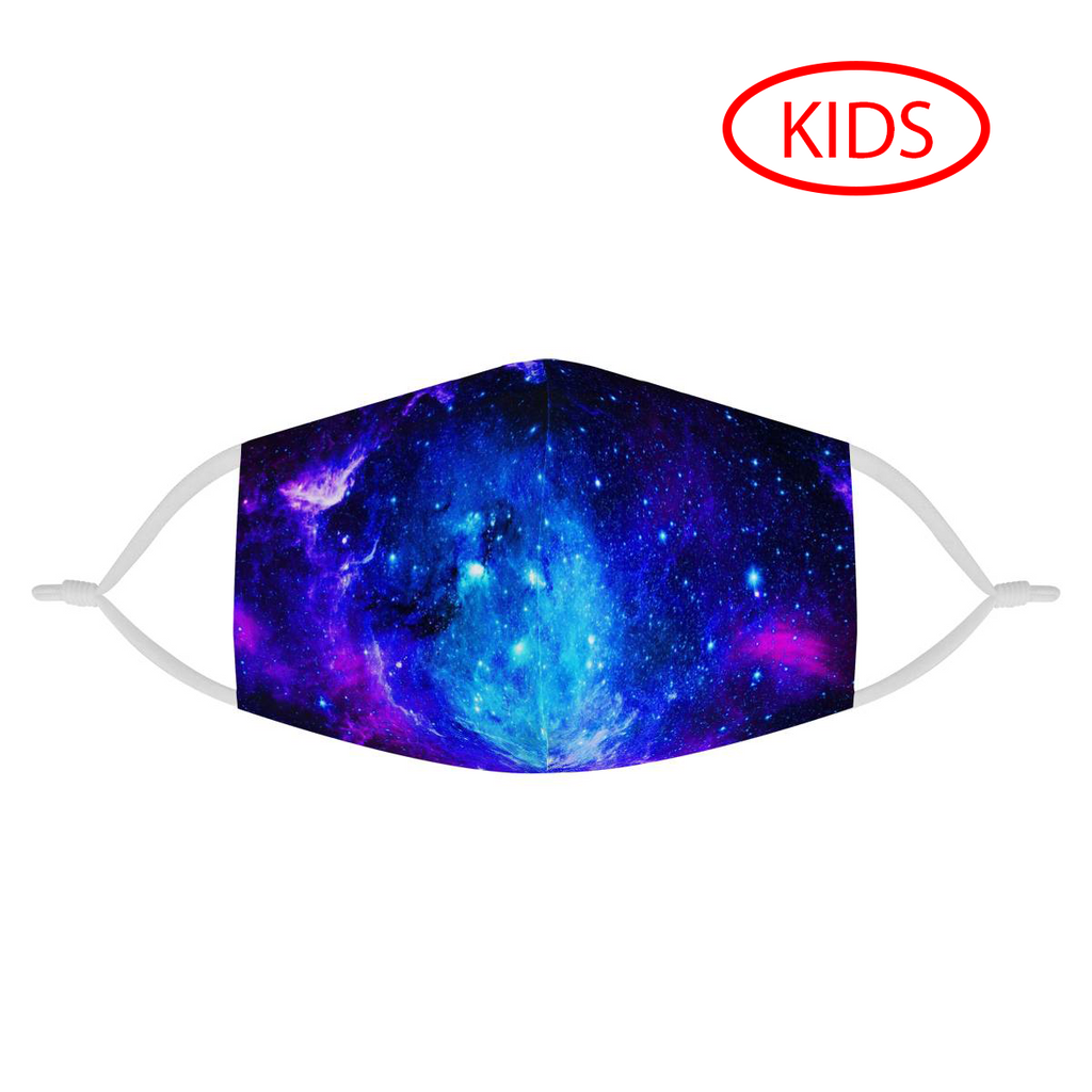 BLUE GALAXY - KIDS MASK WITH (4) PM 2.5 CARBON FILTERS - Electric Styles