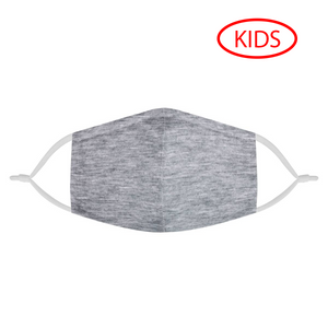 HEATHER GRAY - KIDS MASK WITH (4) PM 2.5 CARBON FILTERS - Electric Styles