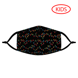 HOLIDAY LIGHTS - KIDS MASK WITH (4) PM 2.5 CARBON FILTERS - Electric Styles