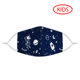 Space Walker - KIDS MASK WITH (4) PM 2.5 CARBON FILTERS - Electric Styles