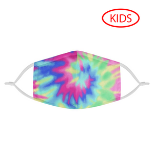 TIE DYE - KIDS MASK WITH (4) PM 2.5 CARBON FILTERS - Electric Styles