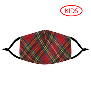 HOLIDAY PLAID - KIDS MASK WITH (4) PM 2.5 CARBON FILTERS - Electric Styles