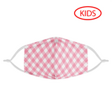 PINK PLAID - KIDS MASK WITH (4) PM 2.5 CARBON FILTERS - Electric Styles