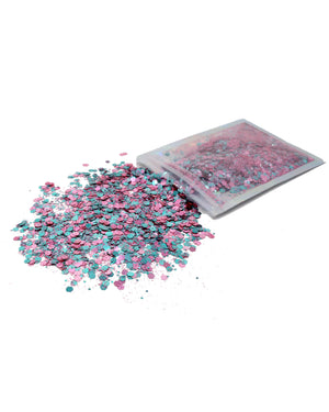 Pink & Blue - Chunky Rave Glitter - Electric Styles