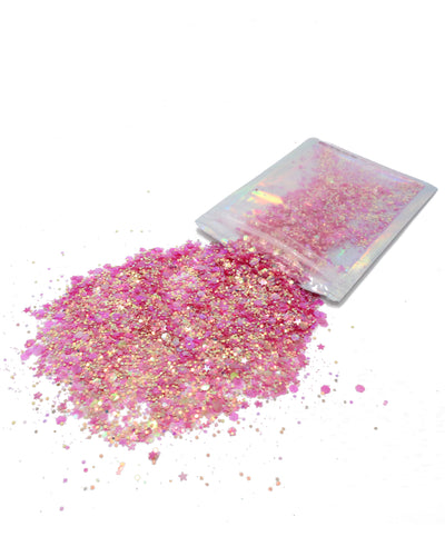 Pink & Gold Duo Chrome - Chunky Rave Glitter