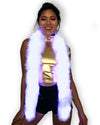 Light Up Fur Boa - Color Changing