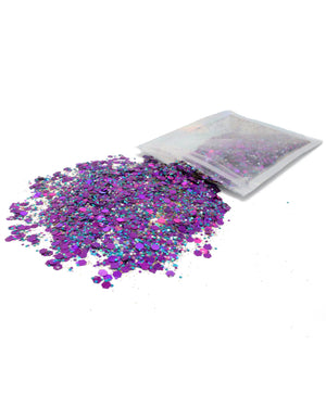 Purple - Chunky Rave Glitter - Electric Styles