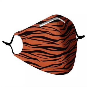 TIGER STRIPES -  MASK WITH (4) PM 2.5 CARBON FILTERS - Electric Styles