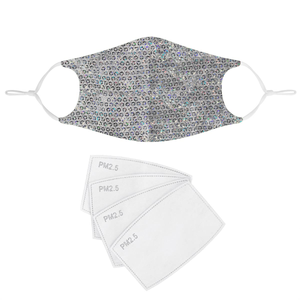 HOLOGRAPHIC SEQUIN FABRIC MASK - Electric Styles