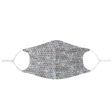 HOLOGRAPHIC SEQUIN FABRIC - MASK WITH (4) PM 2.5 CARBON FILTERS - Electric Styles