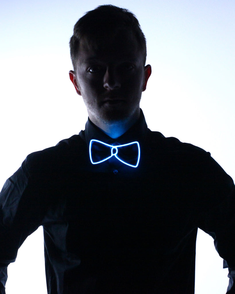 Black Light Up Bow Tie - Electric Styles
