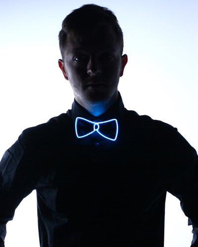 Black Light Up Bow Tie - Electric Styles | World's Number 1 Light Up Shoe Store - {product_type}} - White - 6