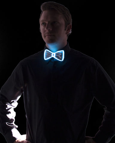 White Light Up Bow Tie - Electric Styles | World's Number 1 Light Up Shoe Store - {product_type}} - Aqua - 1