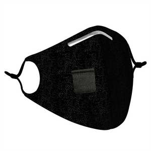BLACK - HEMP COTTON STRAW HOLE MASK - Electric Styles