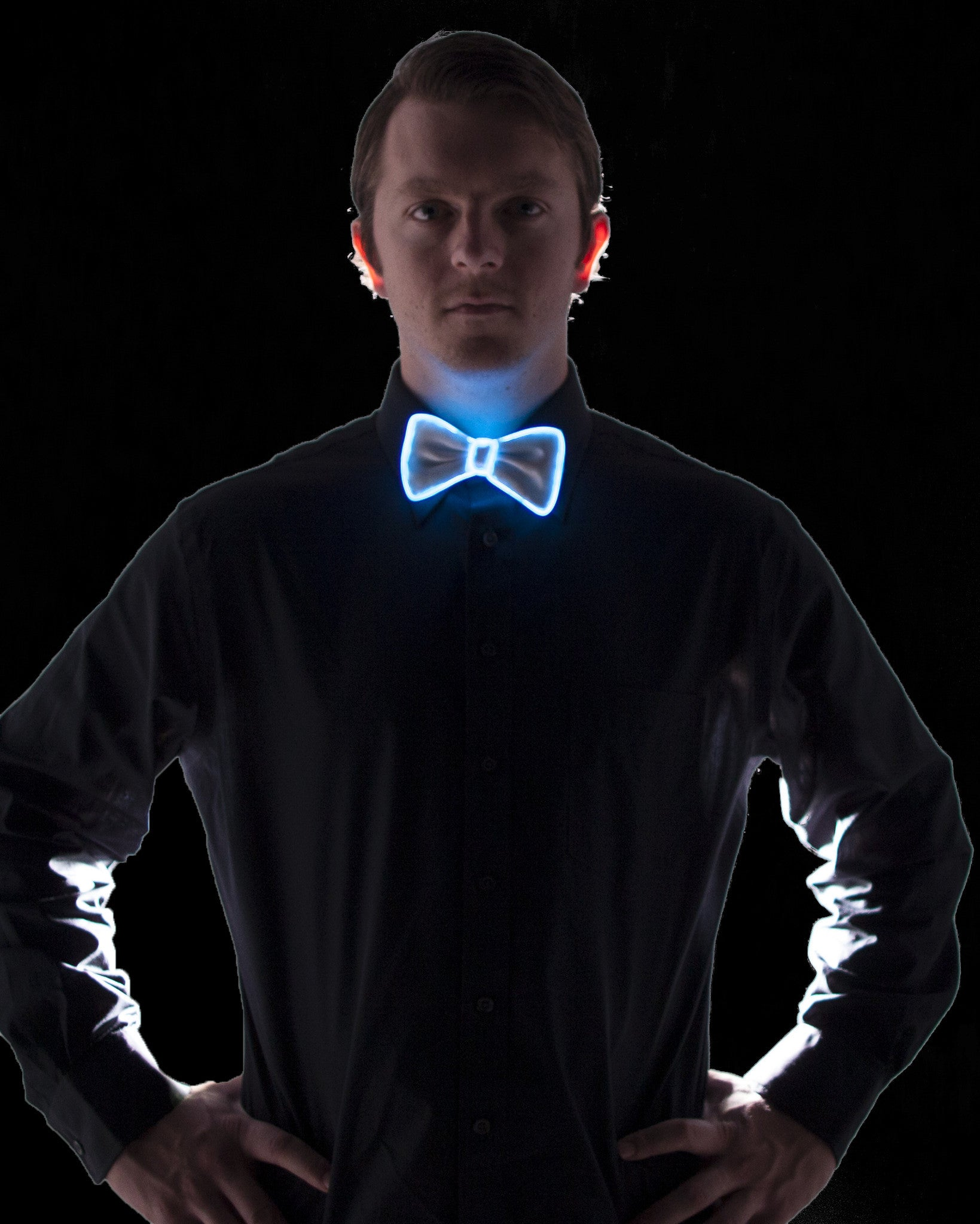White Light Up Bow Tie - Electric Styles | World's Number 1 Light Up Shoe Store - {product_type}} - Blue - 4