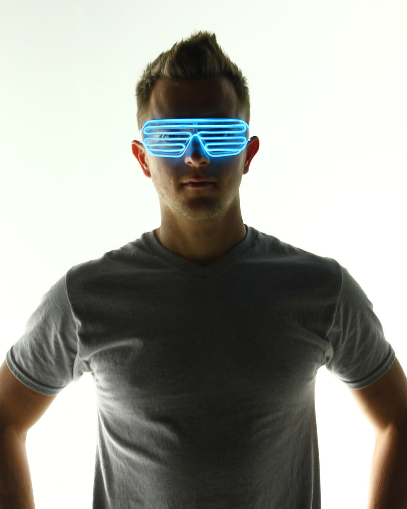 Light Up Shutter Glasses - Electric Styles | World's Number 1 Light Up Shoe Store - {product_type}} - Blue - 1