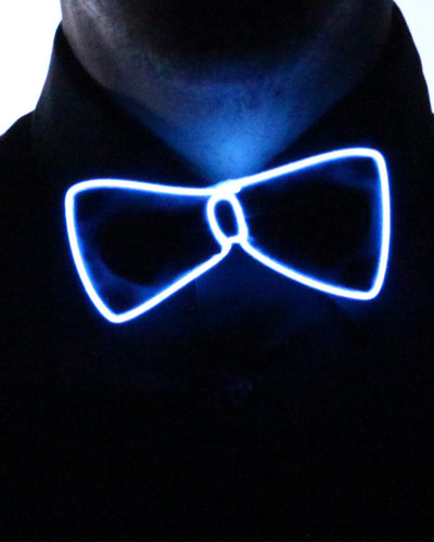 Black Light Up Bow Tie - Electric Styles | World's Number 1 Light Up Shoe Store - {product_type}} - Aqua - 4