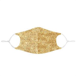 GOLD SEQUIN FABRIC MASK