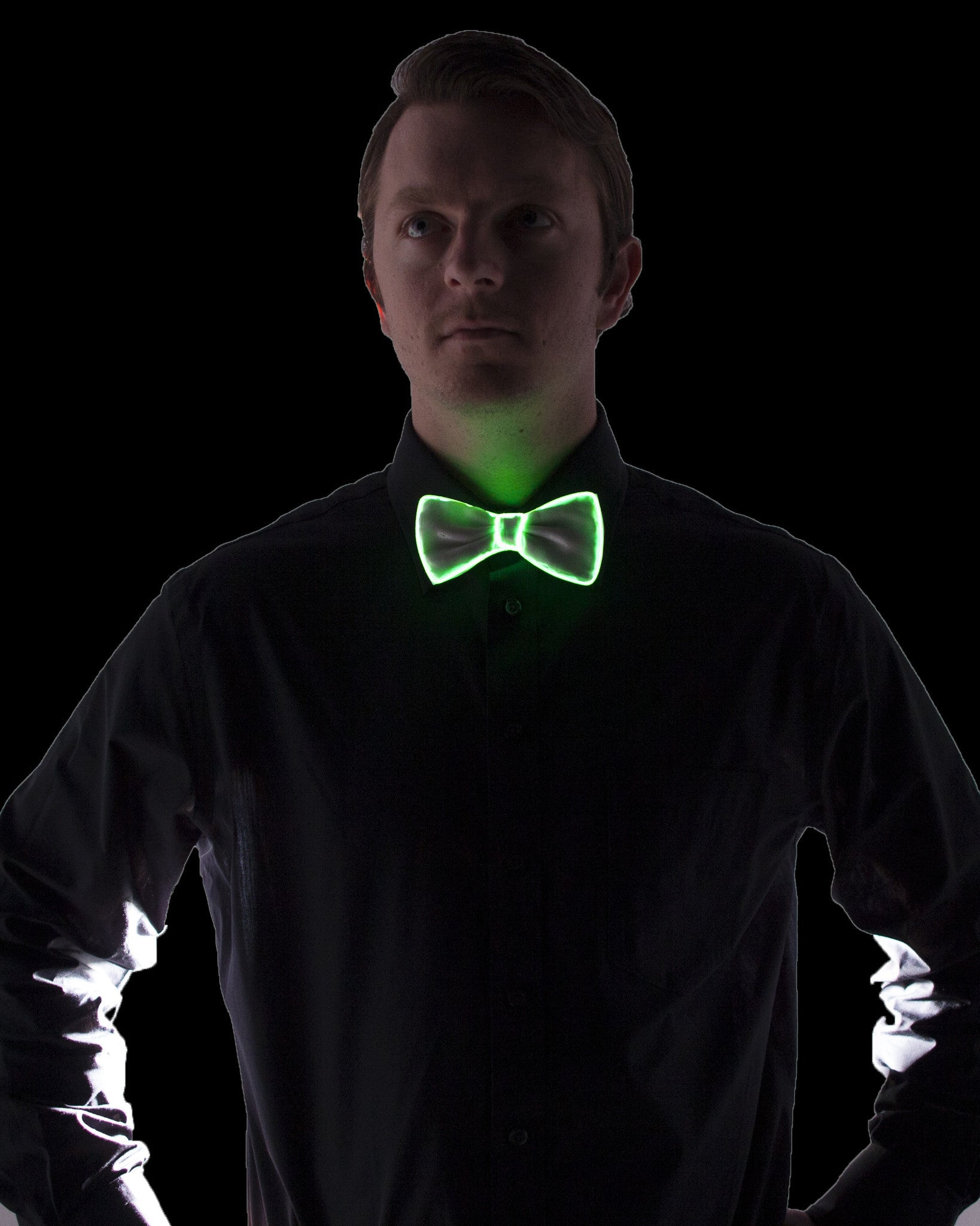 White Light Up Bow Tie - Electric Styles | World's Number 1 Light Up Shoe Store - {product_type}} - Green - 5