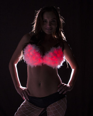 Light Up Fur Bra - Color Changing - Electric Styles | World's Number 1 Light Up Shoe Store - {product_type}} -  - 2