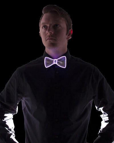 White Light Up Bow Tie - Electric Styles | World's Number 1 Light Up Shoe Store - {product_type}} - Pink - 8