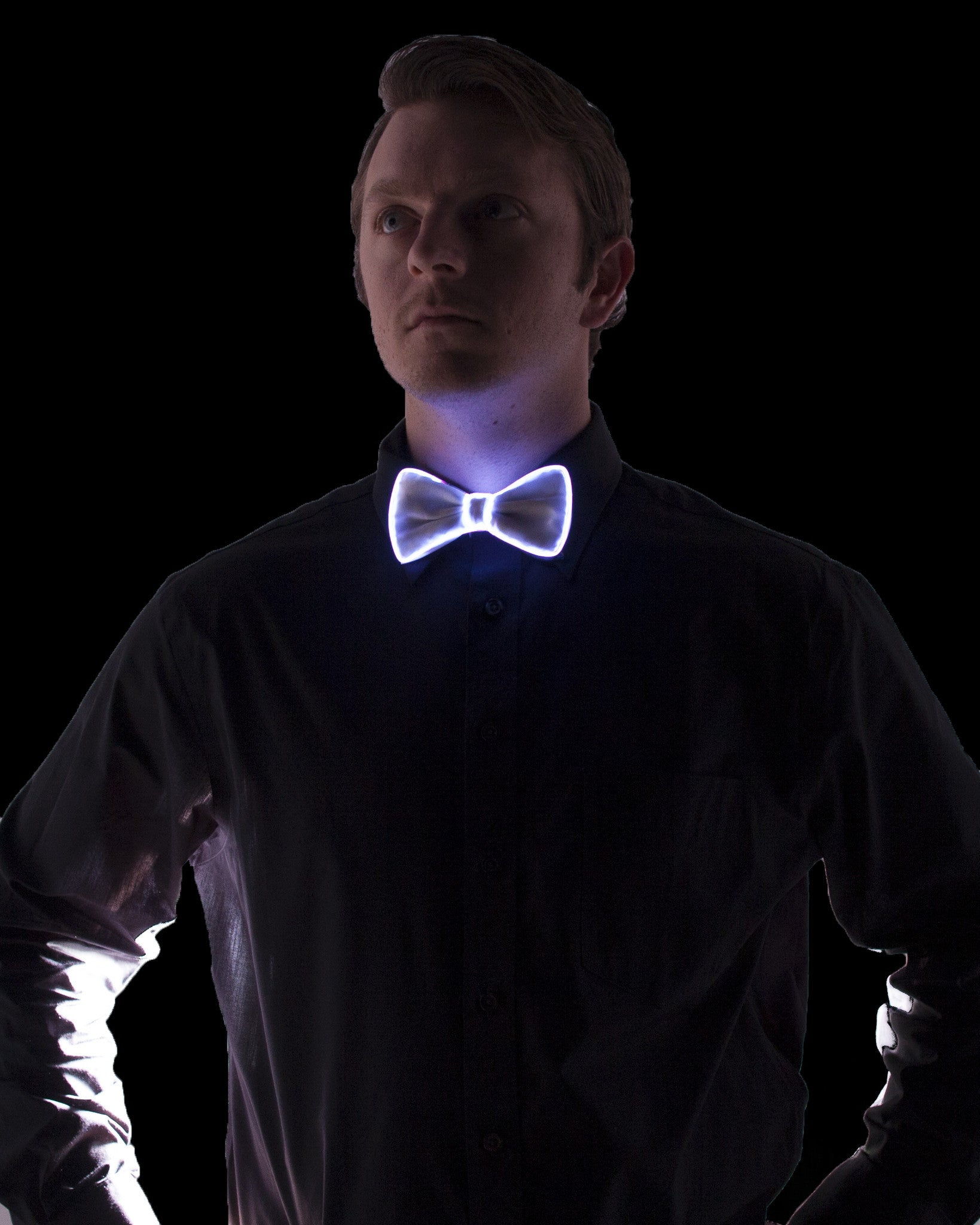 White Light Up Bow Tie - Electric Styles | World's Number 1 Light Up Shoe Store - {product_type}} -  - 9