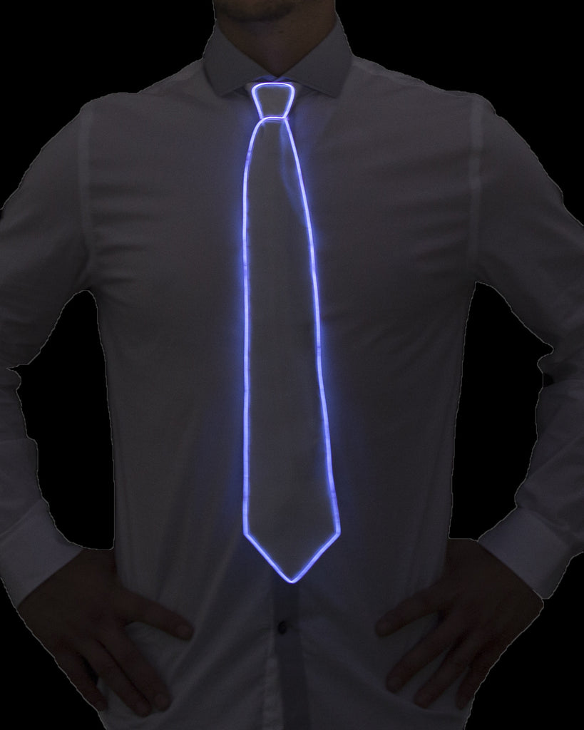 White Light Up Tie - Electric Styles | World's Number 1 Light Up Shoe Store - {product_type}} -  - 5