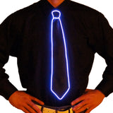 Black Light Up Tie - Electric Styles | World's Number 1 Light Up Shoe Store - {product_type}} -  - 9