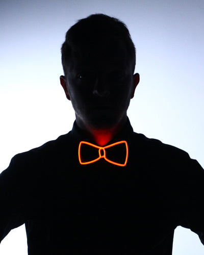 Black Light Up Bow Tie - Electric Styles | World's Number 1 Light Up Shoe Store - {product_type}} - Red - 8