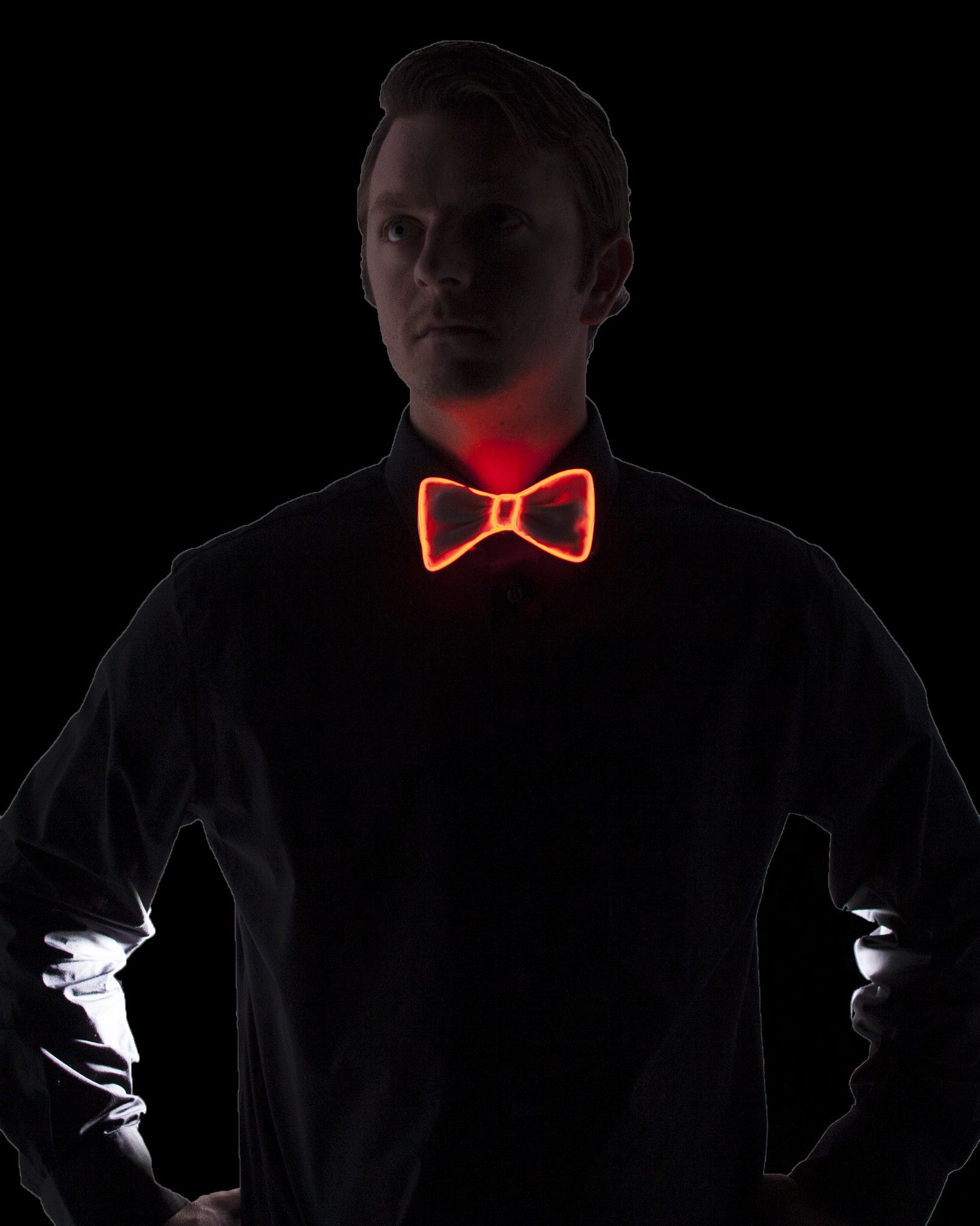 White Light Up Bow Tie - Electric Styles | World's Number 1 Light Up Shoe Store - {product_type}} - Orange - 10