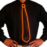 Black Light Up Tie - Electric Styles | World's Number 1 Light Up Shoe Store - {product_type}} -  - 12