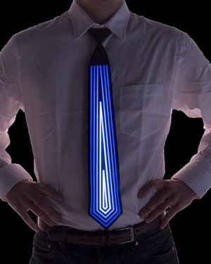 Blue Diamond Sound Activated Light Up Tie - Electric Styles