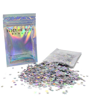 Holographic STARS - Chunky Rave Glitter - Electric Styles